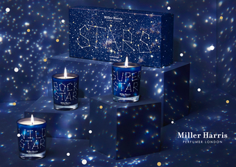 Miller Harris【2015聖誕星空香氛蠟燭系列】讓您生命中的每個歡慶時刻都能如閃耀星辰般熠熠生輝