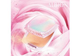 ALBION - 「潤‧雪膚」粉餅3月1日光感進化 新添「拉提閃亮粉體」  SPF係數再升級