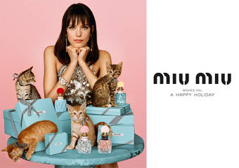Miu Miu - 最童趣的格紋香氛佳節 女孩與貓咪陪你度過玩心聖誕