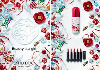 資生堂國際櫃 - Shiseido X Ribbonesia 聖誕節限量藝術家聯名 2018年12月1日限量上市