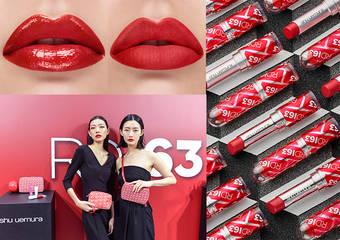 植村秀 - 黃金比例配色,亞洲專屬潮感紅!奢華絲絨 x 水潤透潤 x 漆光閃耀,微紅唇新色 #RD163 限量上市!