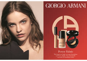 Giorgio Armani - 「完美絲絨水慕斯粉底」劃時代黑絲絨粉餅霜 一抹霜轉乳質地 一觸再化細緻粉體