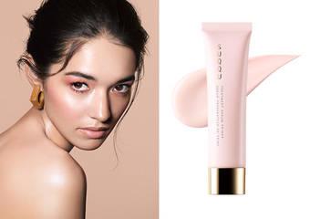 最豪華血色粧前乳誕生 「晶采極潤粧前乳」   奶油底粧下的高級內衣