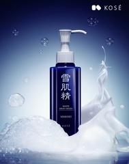 [新品] 綿密的泡沫溫和洗淨肌膚暗沉 來自雪肌精的淨白與瑩透 雪肌精靚白洗顏乳誕生