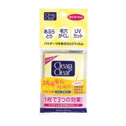 Clean&Clear 可伶可俐 臉部保養用具-防曬魔粉吸油紙 SPF19.PA+ Powder Oil Control Film
