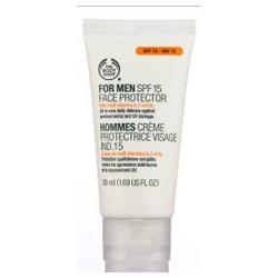 男仕臉部保養產品-男士隔離面霜SPF 15 For Men SPF15 Face Protector