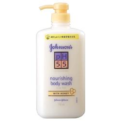 Johnson`s 嬌生 ph5.5系列-嬌生pH5.5 蜂蜜舒緩沐浴乳