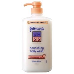 Johnson`s 嬌生 沐浴清潔-嬌生pH5.5 杏仁保濕沐浴乳