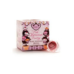 JAQUA  粉紅聖代系列-粉紅聖代 - 唇蜜戒指 Pink Buttercream Frosting Lip Gloss Ring
