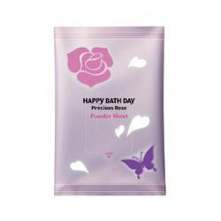 薔薇花蜜柔舒濕巾 Happy Bath Day Precious Rose Powder Sheet