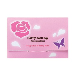 臉部保養用具產品-薔薇香氛吸油面紙 Happy Bath Day Precious Rose Fragrance Blotting Film