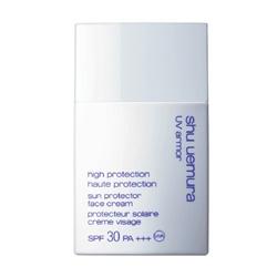 shu uemura 植村秀 防曬‧隔離-極限UV防護乳SPF 30‧PA+++ UV armor Sun Protector Face Cream SPF30 PA+++