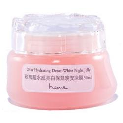 heme  保養面膜-玫瑰超水感亮白保濕晚安凍膜 24hr Hydrating Detox-White Night Jelly