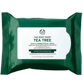 The Body Shop 美體小舖 臉部卸妝-茶樹淨膚清爽潔顏布 Tea Tree Cleansing Wipes