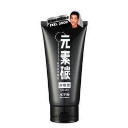 hydrobalance 水平衡 男仕臉部保養-元素碳高潔淨潔面乳(深層型)FOR MEN Carbon Deep Cleansing Foam / Pure(For Men)