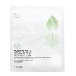 The Body Shop 美體小舖 水嫩淨白系列-水嫩淨白深層保濕面膜 Shiso Whitening Treatment Mask