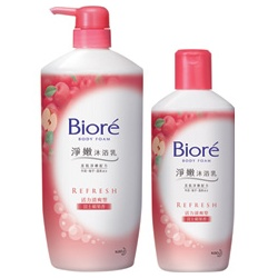 Biore 蜜妮 沐浴清潔-淨嫩沐浴乳活力清爽型(富士蘋果香) Biore Body Foam - APPLE