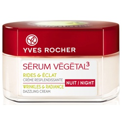 Yves Rocher 伊夫‧黎雪 乳霜-紅蘋凍齡亮采晚霜 SERUM VEGETAL 3 Wrinkles & Radiance Dazzling Cream - Night