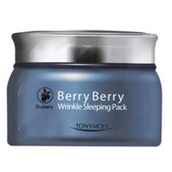 TONYMOLY 保養面膜-莓果抗皺晚安面膜(藍莓) Berry Berry Wrinkle Sleeping Pack