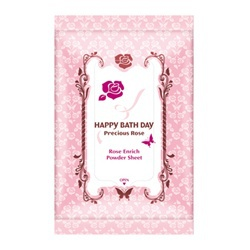 薔薇愛戀香氛爽膚巾(沁涼版) HAPPY BATH DAY Precious Rose Rose Enrich Powder Sheet