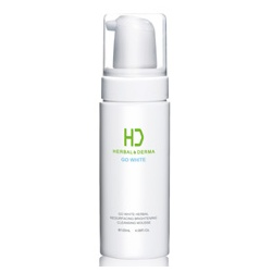 H&D Herbal Derma 萃膚美 GO WHITE白透亮植萃系列-GO WHITE 白透亮溫柔植萃潔顏慕絲 GO WHITE HERBAL RESURFACING BRIGHTENING CLEANSING MOUSSE
