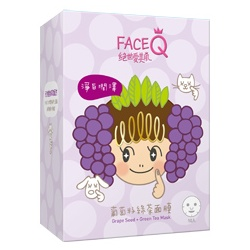 Face Queen 絕世愛美肌 面膜-葡萄籽綠茶面膜