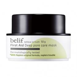 belif 清潔面膜-綠礦泥控油毛孔緊致面膜 First Aid  deep pore care mask