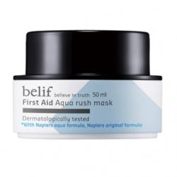 belif 臉部保養-面膜系列-蓮花超效水凝面膜 First Aid  aqua rush mask