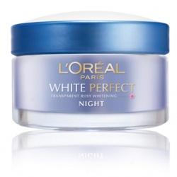 L`OREAL PARiS 巴黎萊雅 完美淨白系列-完美淨白深層修護晚霜 White Perfect Night Cream