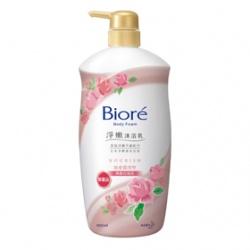 Biore 蜜妮 沐浴清潔-淨嫩沐浴乳寵愛潤澤型(典雅玫瑰香)