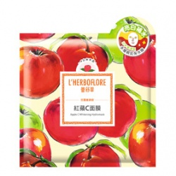 L`HERBOFLORE 蕾舒翠 田園維納斯系列-紅蘋C面膜 Apple C Whitening Hydromask