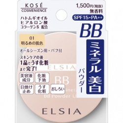 ELSIA 艾兒希亞 蜜粉-亮顏礦物BB蜜粉UV SPF15 PA+++ WHITE MINERAL BB POWDER