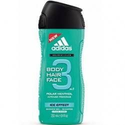 adidas 愛迪達 三效合一潔顏洗髮沐浴露系列-男用三效凍感潔顏洗髮沐浴露 Ice Effect 3 in 1 Shower Gel