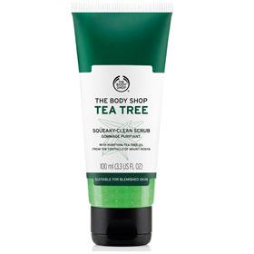 The Body Shop 美體小舖 臉部去角質-茶樹淨膚淨化磨砂膏