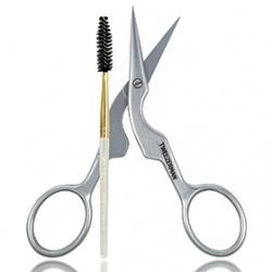 TWEEZERMAN 微之魅 彩妝用具-專業眉剪眉刷二入套組 Brow Shaping Scissors & Brush