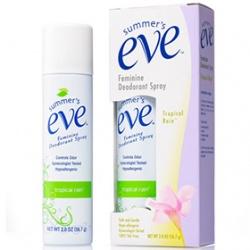 summer`s eve 舒摩兒 香氛保養系列-清新粉霧(香氛型) Feminine Deodorant Spray Tropical Rain