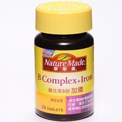 Nature Made 萊萃美 維生素系列-維生素B群加鐵錠