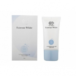 極白光勻亮高效清透防護霜SPF50★★★(自然潤色) Gly Derm Extreme White Multi-Protection Sunscreen Cream SPF50 ★★★ (Tinted)