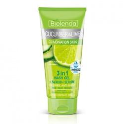 Bielenda 碧爾蘭達 清潔面膜-小黃瓜&萊姆果毛孔緊緻三效合一面膜 CUCUMBER AND LIME gel+scrub+serum 3in