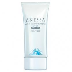 SHISEIDO 資生堂-專櫃 身體防曬-安耐曬粉藍防曬水凝乳SPF50+/PA++++