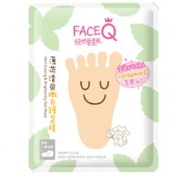 Face Queen 絕世愛美肌 腿‧足保養-薄荷清爽嫩白護足膜(升級版)