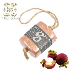 山竹麻繩手工草本皂 Thai Scent handmilled soap on the soap(Mangosteen)
