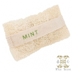 Soap-n-Scent 泰香 造型草本手工皂-薄荷絲瓜烙草本手工皂 Thai Scent Mint SOAP-e loofah (white hang bag)