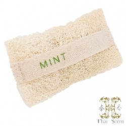 薄荷絲瓜烙草本手工皂 Thai Scent Mint SOAP-e loofah (white hang bag)