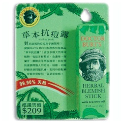 BURT`S BEES 小蜜蜂爺爺 Natural Remedies-新草本戰痘露 Herbal Blemish Stick