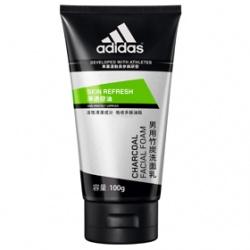 adidas 愛迪達 男性保養淨透控油系列-淨透控油竹炭洗面乳