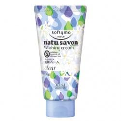 Softymo 絲芙蒂 洗顏-純淨植物洗面乳(瑩透型) NATUSAVON  WASHING CREAM(CLEAR)
