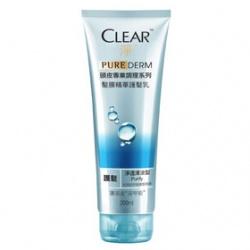 Clear 淨 護髮-PURE DERM頭皮專業調理髮膜精華護髮乳(淨透清涼)
