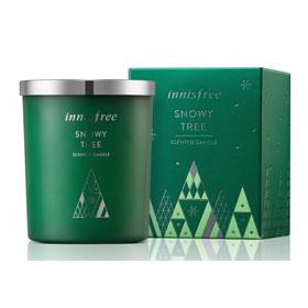 innisfree 暖暖聖誕限量系列-X-MAS香氛蠟燭(雪白大樹)