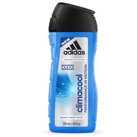 adidas 愛迪達 雙效洗髮沐浴露系列-男用三效動感香氛潔顏洗髮沐浴露
